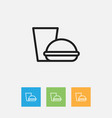 of science symbol on fast food vector image