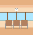 office room concept flat design icon objects vector image