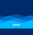 papercut style sea wave pattern background vector image