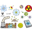 Physics - atomic nuclear energy vector image vector image