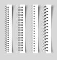 realistic spirals notebook 3d metal binder vector image