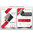 red square business brochure leaflet flyer annual vector image