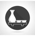 Sake set round icon vector image