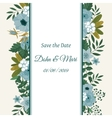 save date flower decoration card vector image