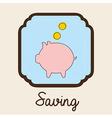 saving design vector image