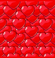 seamless pattern of red balloons in the shape of vector image vector image