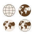 set of different types of globes vector image