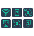 set of icons about online payments with cifrao vector image vector image