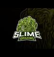 slime monster mascot esport logo design vector image