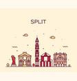 split skyline croatia a linear vector image vector image