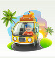 summer vacation trip vector image vector image