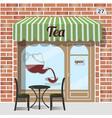 tea shop facade vector image