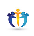 teamwork business people logo vector image vector image