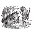 toads and thumbelina vintage vector image vector image