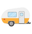 trailer caravan motorhome mobile home for country vector image vector image