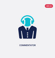 two color commentator icon from football concept vector image vector image