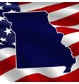 united states missouri dark blue silhouette vector image vector image