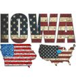USA state of Iowa on a brick wall vector image vector image