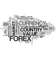 what is forex text word cloud concept vector image vector image