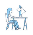 woman working in the office vector image vector image