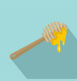 wood honey tool icon flat style vector image