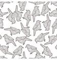 zen doodle bird seamless background vector image