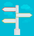 abstract strategy concept in flat style - road vector image