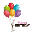 balloons happy birthday party graphic vector image