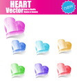 3d Glossy Heart vector image vector image