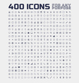 400 universal icons for any purpose vector image