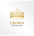 a big golden crown vector image vector image