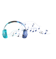 A headphone with musical notes vector image
