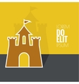 Abstract background with a medieval fortress vector image