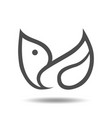 abstract bird symbol icon vector image vector image