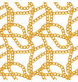 abstract chain seamless pattern background vector image vector image