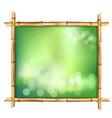 abstract spa or beach bamboo tropical signboard