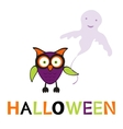 An of cute halloween owl vector image vector image