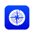 ancient compass icon digital blue vector image