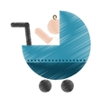 baby cart icon vector image vector image