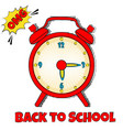 back to school bright background with pop art vector image vector image