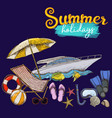 beach summer holidays vector image vector image