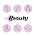 beauty and body care icons set vector image vector image