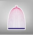 bird cage sign purple gradient icon on vector image vector image