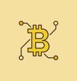 bitcoin technology colorful logo or icon vector image vector image