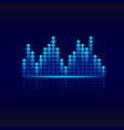 blue graphic equalizer design sound wave vector image