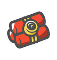 bomb with clock timer cartoon vector image vector image
