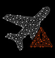 bright mesh 2d airplane error with flash spots vector image vector image