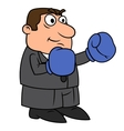 Businessman with boxing gloves 3 vector image