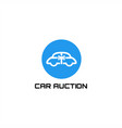 car auction logo vector image vector image