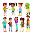 character children and teenager blowout set vector image vector image